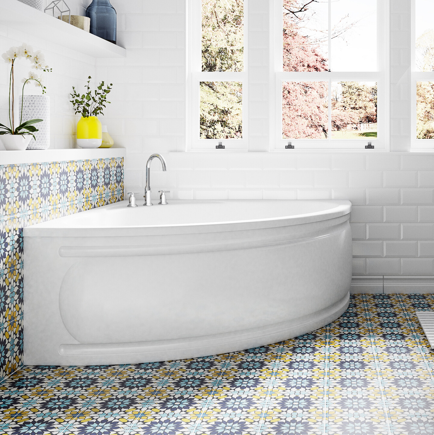 A photo of one of our Baths in a tiled bathroom